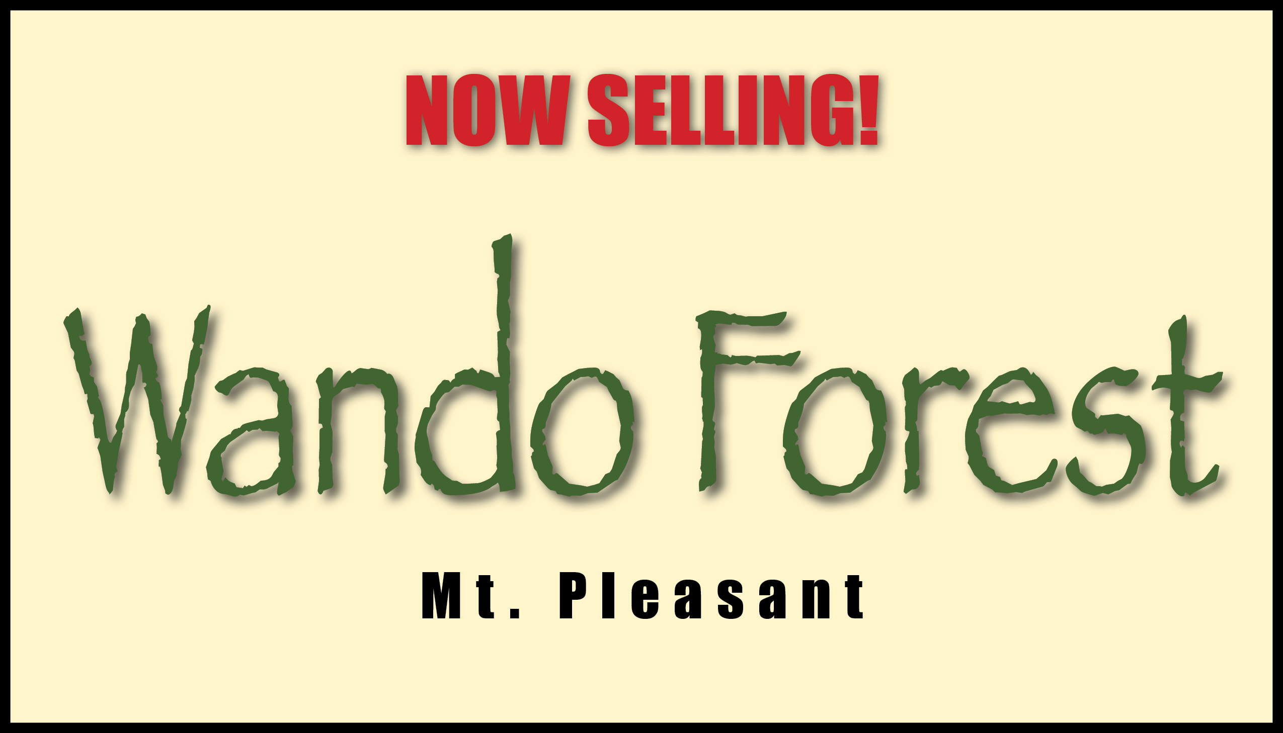 Wando Forest Coming Soon